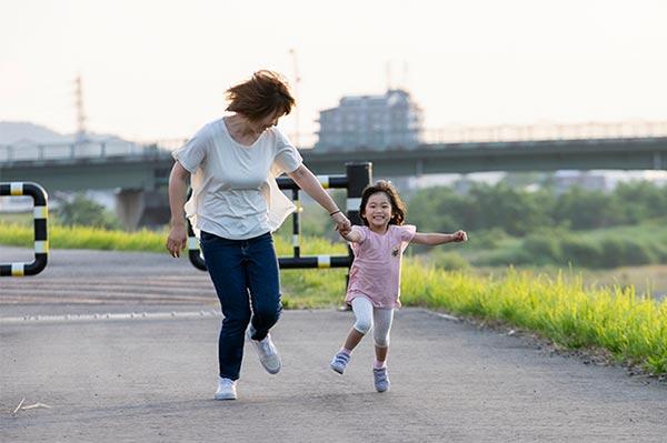 渡良瀬川河川敷でお散歩