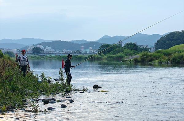 渡良瀬川での釣り